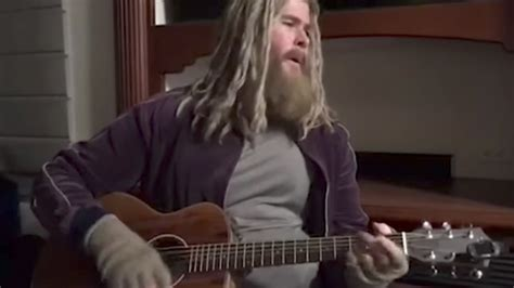 Watch Fat Thor Play Johnny Cash Hurt Scene Cut From