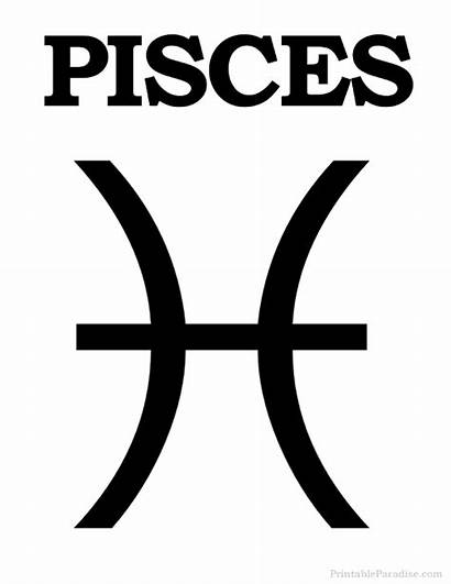 Pisces Zodiac Sign Signs Printable Symbol Star