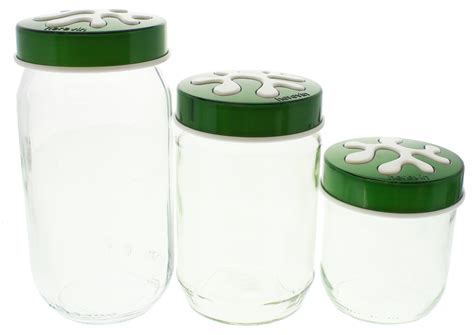 glass kitchen canisters sets glass kitchen canister set green at mighty ape nz