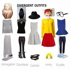 Divergent outfits!! I like the Dauntless and Erudite ones ...