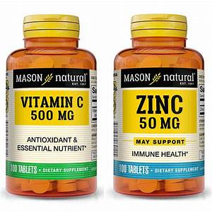 Mason Natural Vitamin C 500mg   Zinc Supplement 50mg