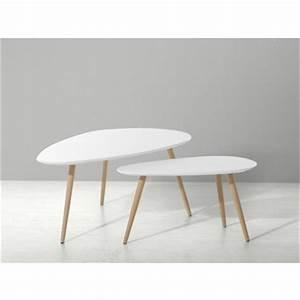 Table D Appoint Blanche : table basse noire et blanche fly le bois chez vous ~ Teatrodelosmanantiales.com Idées de Décoration