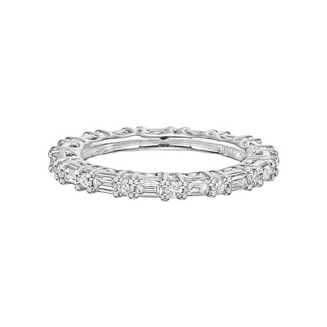 Round & Baguette Diamond Eternity Band (175 Ct Tw. Handcrafted Engagement Rings. Small Diamond Necklace. 4ct Emerald. Gemstone Ring Bands. 24k Engagement Rings. Rose Gold Ankle Bracelet. Silver Bangle Bracelets For Women. Engagement Ring And Wedding Band