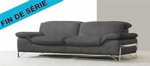canape cuir sidney With tapis de marche avec canapé 3 2 places cuir