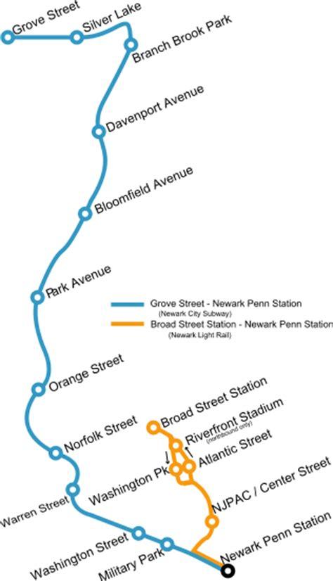 light rail nj map maps of newark new jersey lines free printable maps