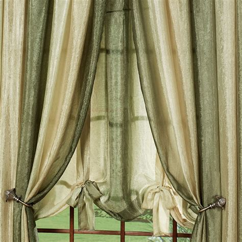 ombre window curtains ombre semi sheer waterfall valances