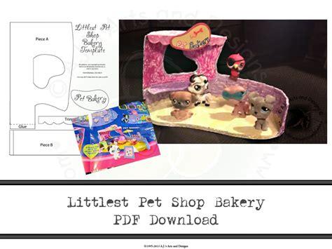 littlest pet shop bakery template
