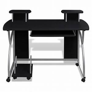 Etagere Pour Bureau : la boutique en ligne table de bureau noire pour ordinateur avec tag re ~ Teatrodelosmanantiales.com Idées de Décoration