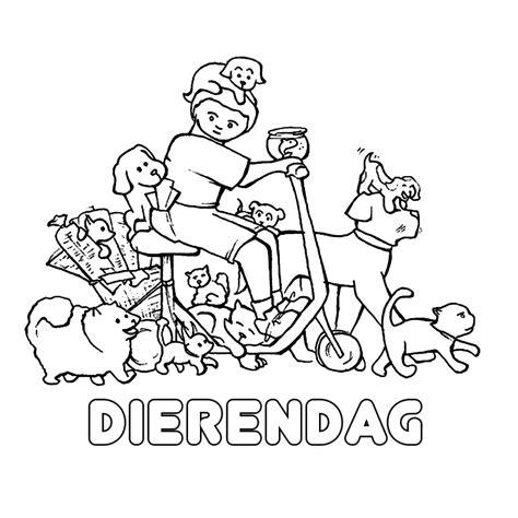 Kleurplaat Dierendag by Leuk Voor Dierendag 0010