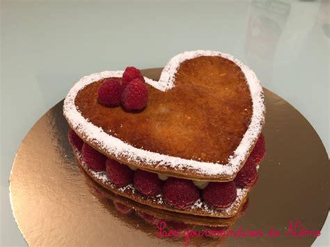 dessert a la framboise rapide millefeuilles coeur vanille framboise de valentin les gourmandises de n 233 mo