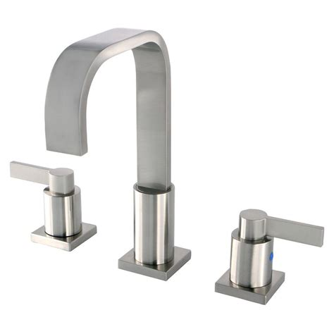 modern kitchen sink faucets kingston brass modern 8 in widespread 2 handle high arc
