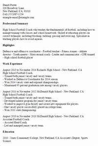 1 high school football coach resume templates try them With football coach resume