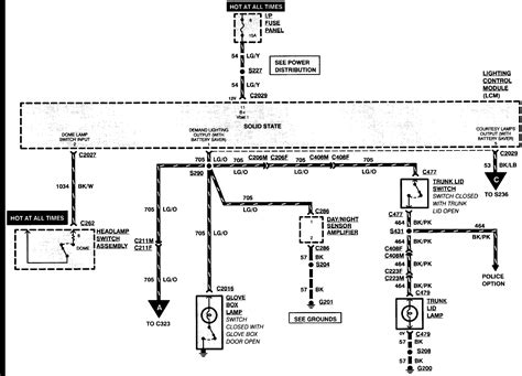 2005 Crown Victorium Wiring Diagram by I A 1996 Ford Crown My Problem Is The Dome