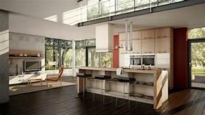 Drei Raum Wohnung : wohnzimmer mit k che 34 moderne designs ~ Orissabook.com Haus und Dekorationen