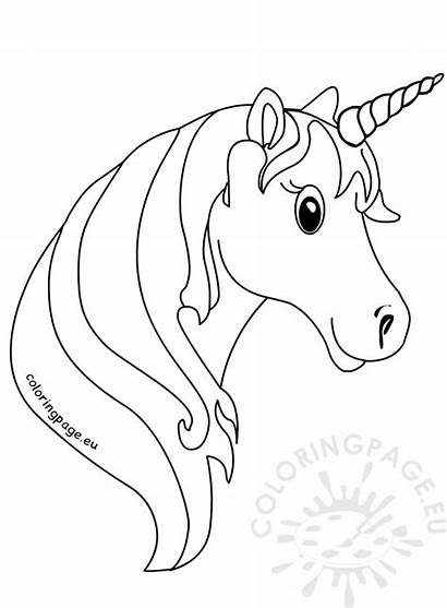 Unicorn Face Coloring Pages Animal