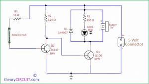 Door Open Alarm Circuit Using Reed Switch  Met Afbeeldingen