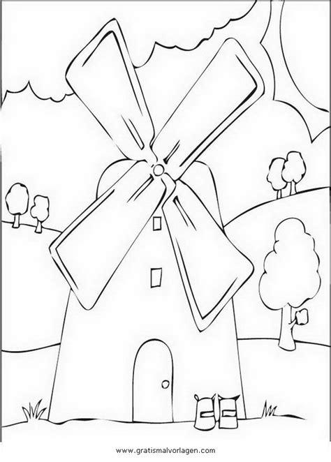 windmuehle  gratis malvorlage  diverse malvorlagen haeuser ausmalen
