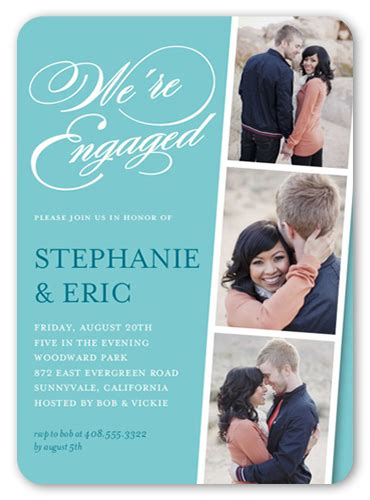 Linked For Life 5x7 Engagement Invitation Shutterfly