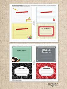 back to school book labels free template personalized With free school labels template