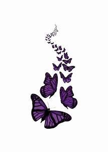 Trail Of The Purple Butterflies Transparent Background ...