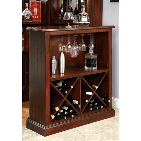 wine rack furniture furniture of america myron traditional wine rack in