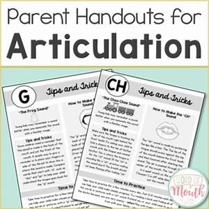 Articulation Handouts for Parents & Teachers by Word of ...
