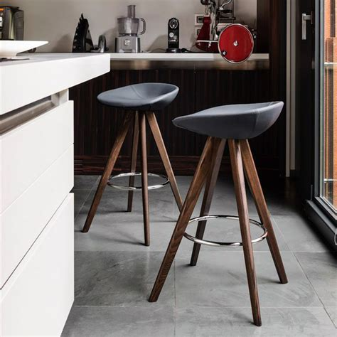 kitchen counter stools contemporary calligaris palm bar stool wood legs 6640