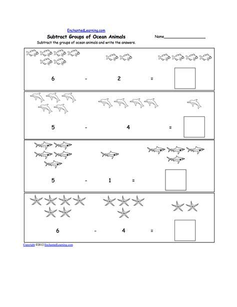 water animals worksheets for kindergarten science sea