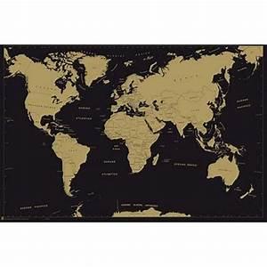 Carte Du Monde Design : carte du monde affiche metallic achat vente affiche cdiscount ~ Teatrodelosmanantiales.com Idées de Décoration