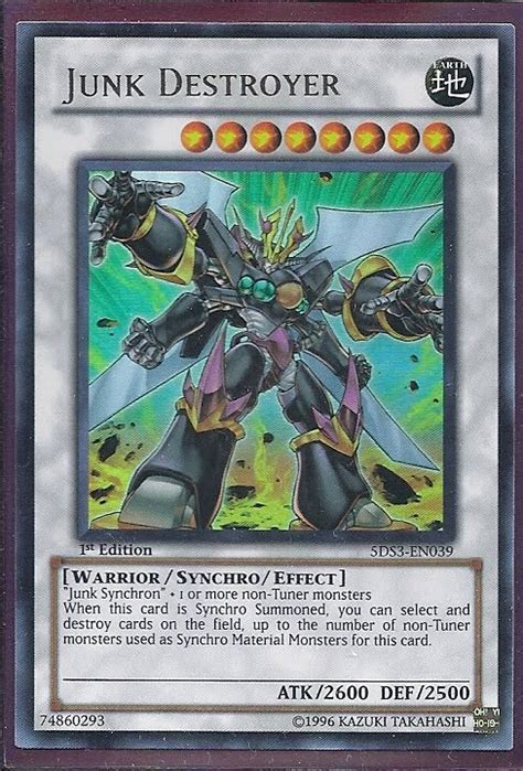 Yugioh Deck Strategies by Yu Gi Oh Card Strategies Card Of The Day Junk Destroyer