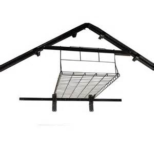 shop suncast black powder coated metal storage shed shelf