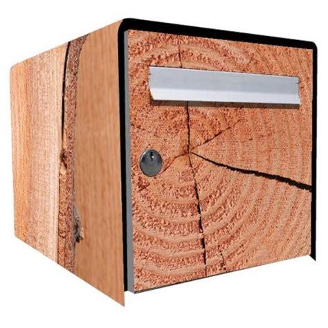 stickers bo 238 te aux lettres d 233 co brut de bois