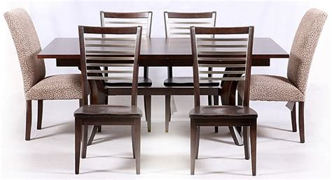 bassett furniture co dining table and six chairs