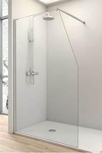 Paroi Douche Lapeyre : paroi de douche fixe one avec decoupe en pente ~ Premium-room.com Idées de Décoration