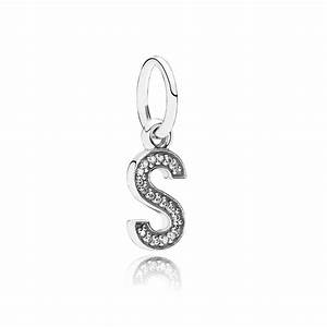 Pandora letter s pendant charm 791331cz pandora from for Pandora hanging letter charms
