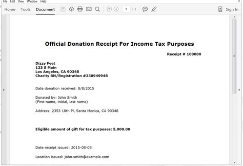 create donation tax receipts from salesforce formstack documents