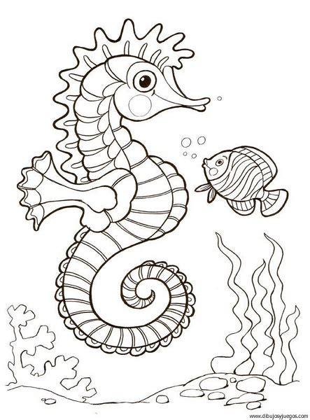 dibujos  colorear de caballitos de mar imagui