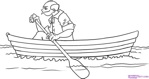 How To Draw A Boat Sailing by Simple Drawing Of Boat How To Draw A Boat Step By Step