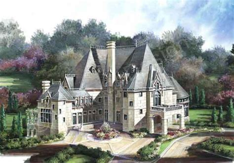 chateau homes chateau novella luxury house plan small castle plan