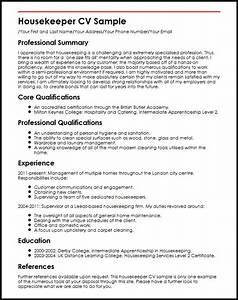 housekeeper cv sample myperfectcv With housekeeping resume sample