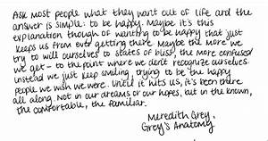 Life Lessons from Grey's Anatomy! – INFINITE THOUGHTS