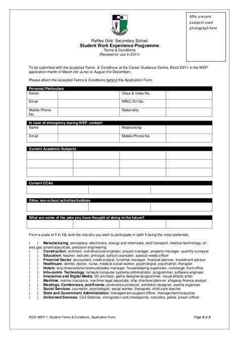 wep terms  conditions application form