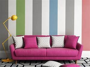Wand Mit Streifen : color blocking an der wand und in der wohnung einrichtungsideen ~ Frokenaadalensverden.com Haus und Dekorationen