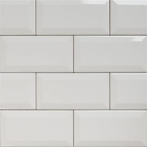 tile kitchen backsplash ideas subway bevelled gloss white tile 150 75 eco tile factory