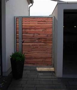 Gartenpforten Aus Holz : tor aus feuerverzinktem stahl mit einer holzf llung ~ Sanjose-hotels-ca.com Haus und Dekorationen