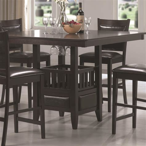 Shop wayfair for the best mosaic bistro table set. Coaster Jaden Square Counter Height Table with Center Storage Cabinet | Value City Furniture ...