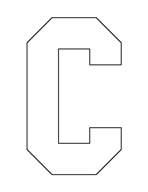 design patterns c letter c pattern use the printable outline for crafts