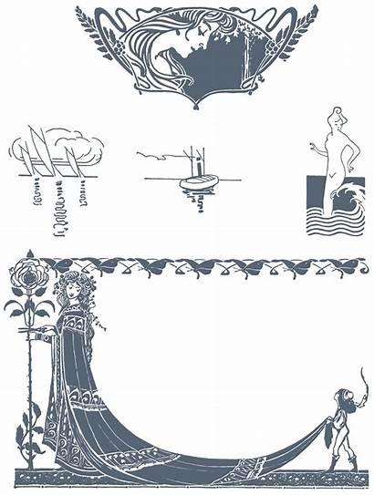 Nouveau Illustrations Vector Fonts Borders Ornaments Vectorian