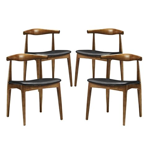 set of 4 tracy vintage modern dining chairs with