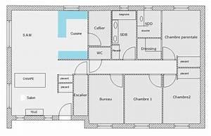 plan maison rectangulaire With plan de maison 110m2 16 plan villa f4
